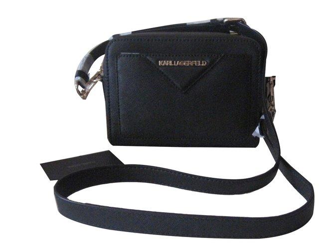 499821f1c4 Karl Lagerfeld Handbags Handbags Leather Black Ref65332 Joli Closet
