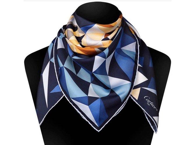 Foulards Cartier FOULARD SOIE Soie Multicolore ref.65408 - Joli Closet 91d28796f10