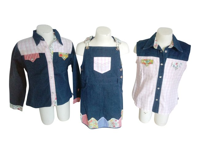 Christian Dior Outfits Outfits Cotton Blue ref.65446