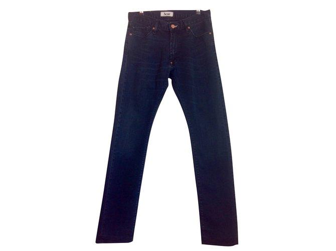 6c831e7ca09 Jeans homme Acne Jeans homme Coton Noir ref.65505 - Joli Closet