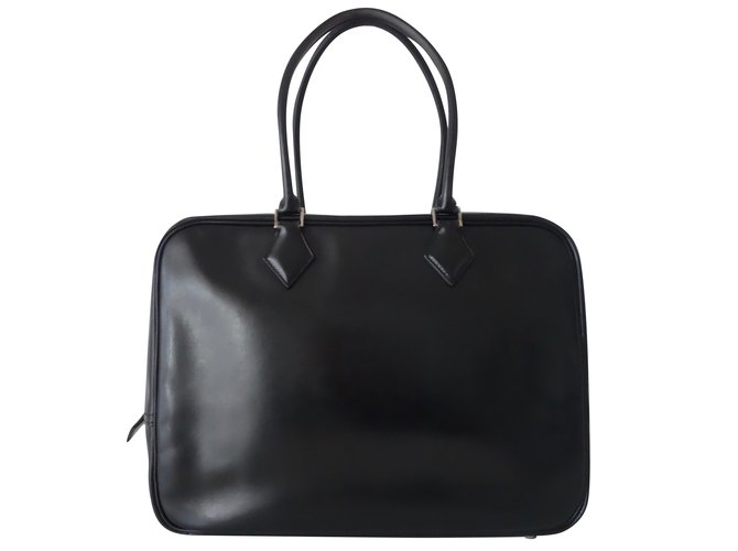 e27ee17a8415 ... greece hermès plume handbags leather black ref.65518 569fb 57d3c