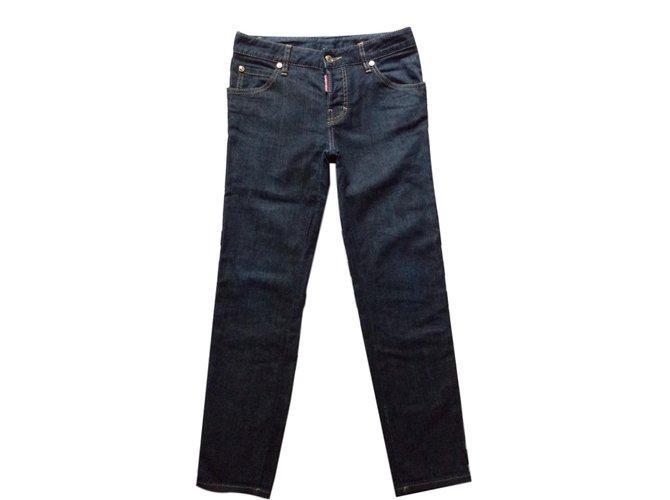 Jeans Dsquared2 JEANS LUXE Coton Bleu ref.65590