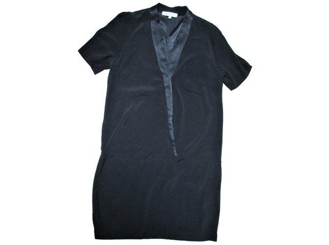 Robes Ref Joli Closet Sandro Noir Viscose 65660 TqxrBT8w