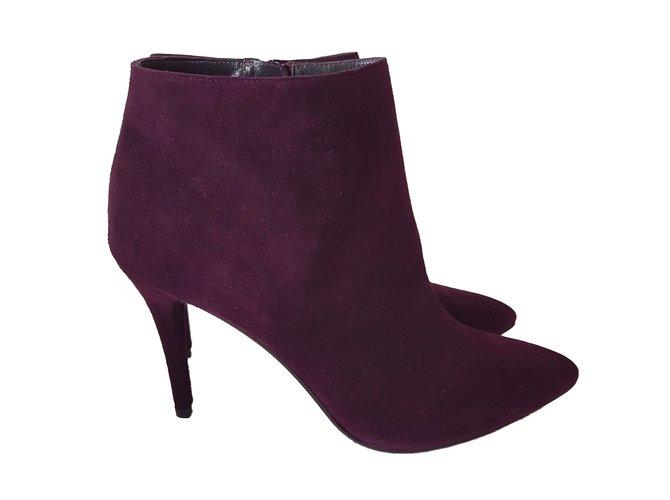 d87bec6a658d Stuart Weitzman Stuart Weitzman carltone purple suede boots Ankle Boots  Suede Purple ref.65705