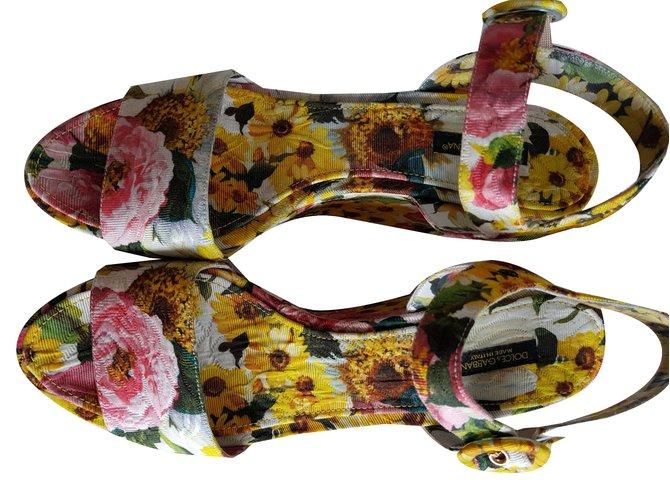 80d3371d115 Dolce   Gabbana wedge shoes Wedge mules Cotton Multiple colors ref.65839