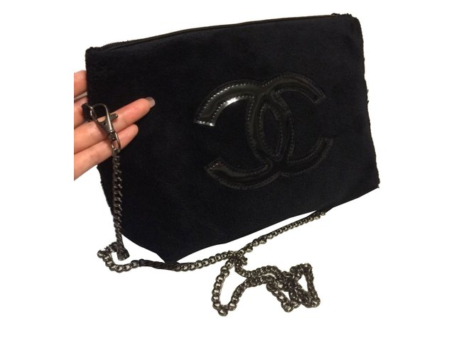 c876917770cf Chanel Clutch bags VIP gifts Other Black ref.65858 - Joli Closet