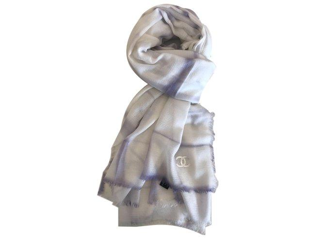 Chanel Scarves Scarves Cashmere Cream ref.65940