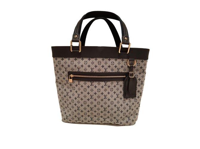 Louis Vuitton Handbags Cloth Blue Ref 65955