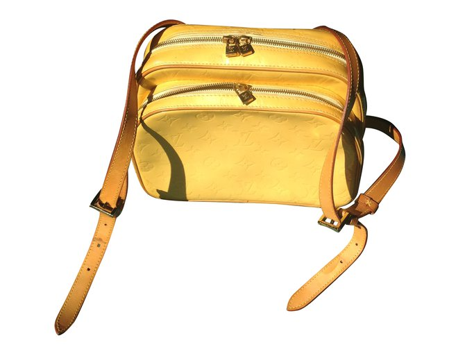 411739dfa9fb Louis Vuitton Murray Backpack L. Vuitton Backpacks Leather Yellow ref.65994