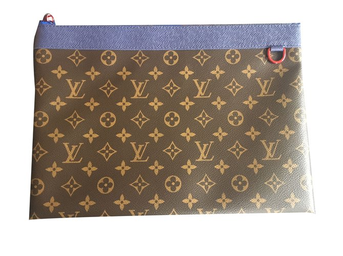5cce6f52fbad Louis Vuitton Apollo clutch bag Bags Briefcases Leather Brown ref.66017