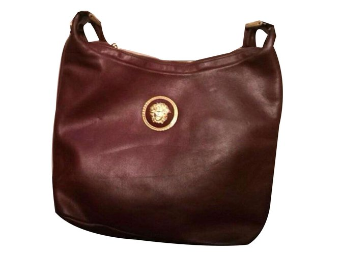 abce21f042e3 Gianni Versace Handbags Handbags Leather Brown ref.66125 - Joli Closet