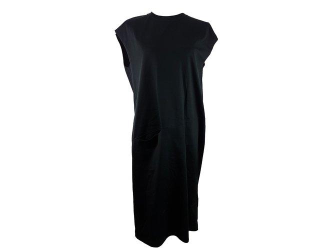 Céline T-Shirt Dress Dresses Cotton Black ref.66151