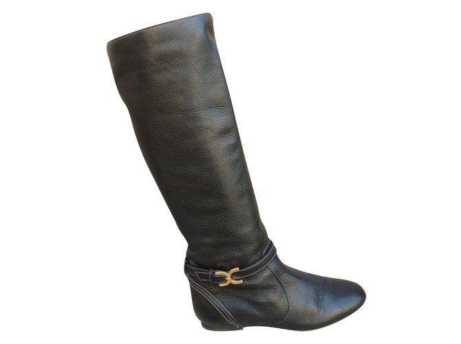 Chloé Boots Boots Leather Black ref.66222
