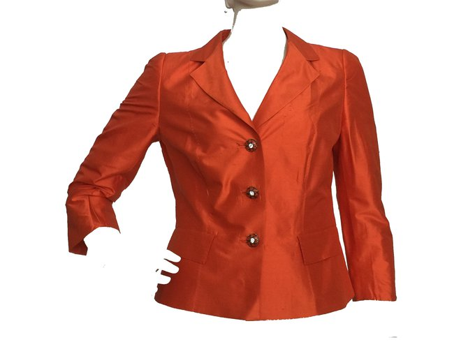 Ref Blazer Silk Orange Jackets Closet 66275 Jacket Marella Joli Wz1XF6qq
