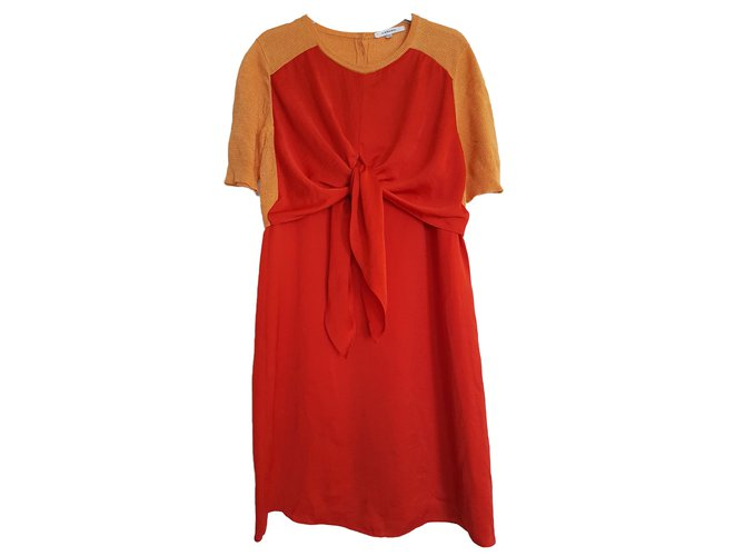 Carven Dress Red Polyester  ref.66473