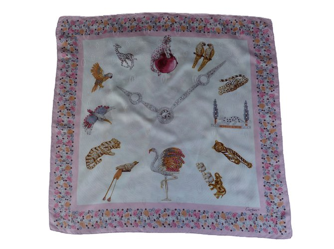 Foulards Cartier Foulards Soie Rose ref.66547 - Joli Closet 2f770064bfa