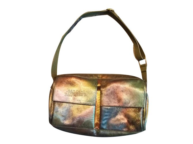 Jean Paul Gaultier Handbags Cloth Green Khaki Ref 66548