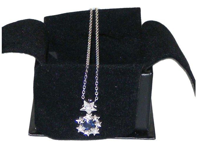 Chanel pendant necklaces pendant necklaces white gold silveryblue chanel pendant necklaces pendant necklaces white gold silveryblue ref66592 aloadofball Choice Image