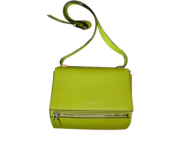 914addff779 Givenchy Pandora Box Medium Handbags Leather Yellow ref.66615 - Joli ...