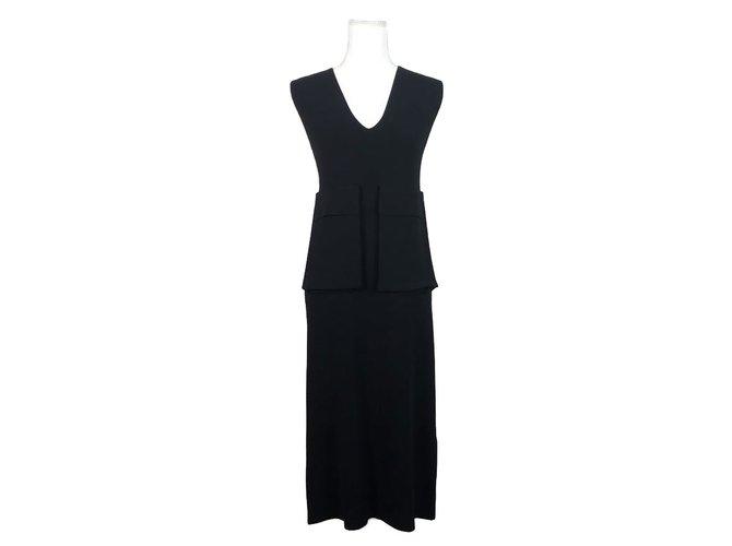 Céline Jersey Dress Dresses Viscose Black ref.66618