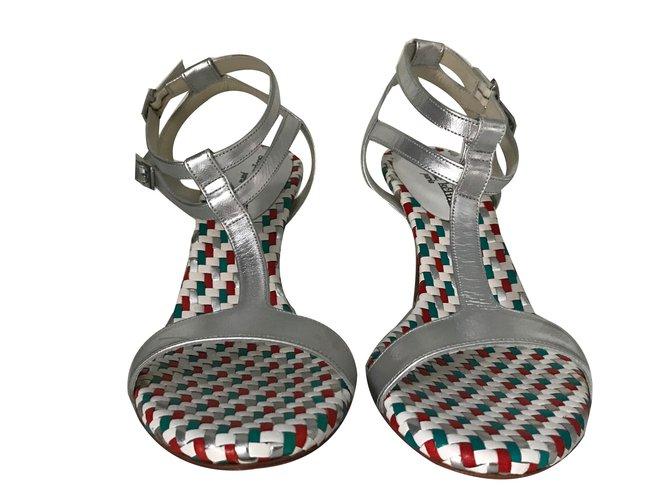 4865575c4 Stéphane Kelian Sandals Sandals Leather Silvery