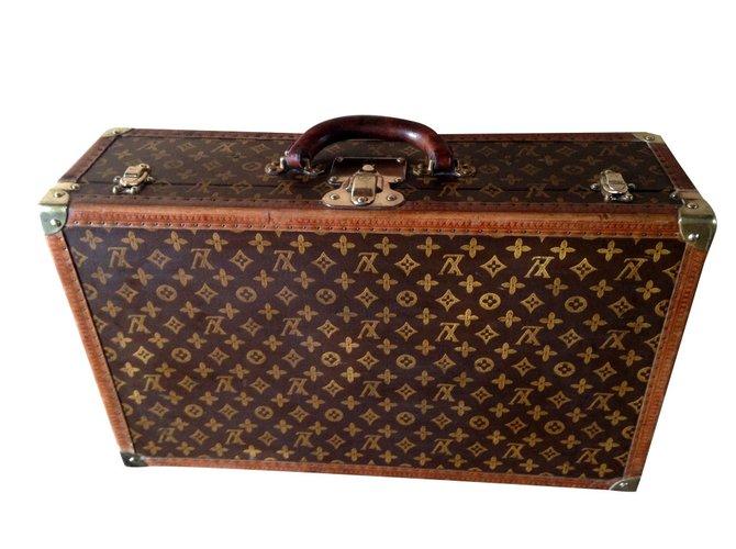 Louis Vuitton Travel Bag Steel Cloth Brown Ref 66684