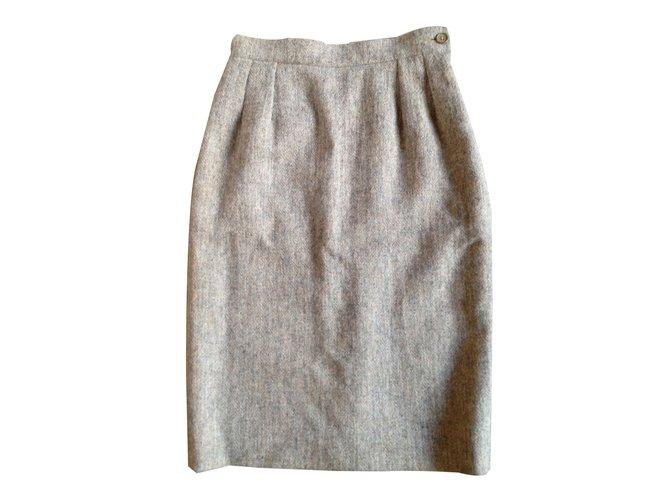 1ae1b365c623 Yves Saint Laurent Skirts Skirts Wool Beige