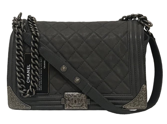 Chanel Engraved Corners Boy Cowboy Flap Quilted