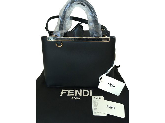 d9460cdb38 Fendi 2 Jours Black Handbags Leather Black ref.66736 - Joli Closet