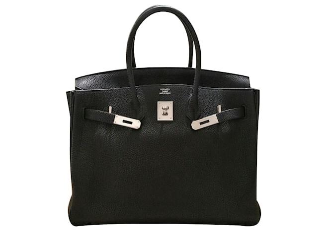 Hermès Birkin 35 Black Togo Leather PHW Handbags Leather Black ref.66748