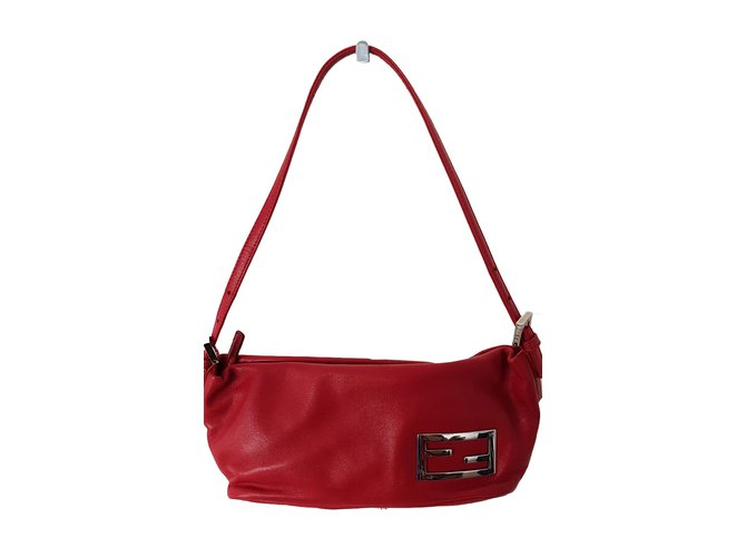 71eed835ad ... netherlands fendi fendi baguette shoulder bag handbags leather dark red  ref.66770 42705 1793c ...