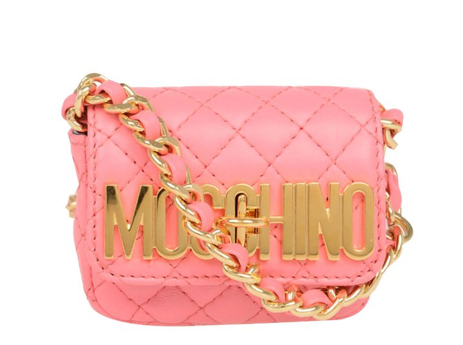 Moschino Handbag Handbags Leather Pink Ref 66798