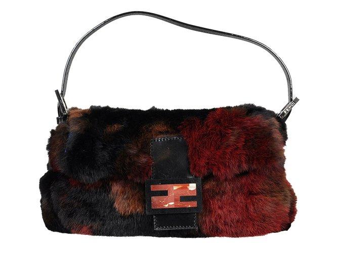 f940dd2c8e9 Fendi Baguette Bag Handbags Fur Multiple colors ref.66802 - Joli Closet