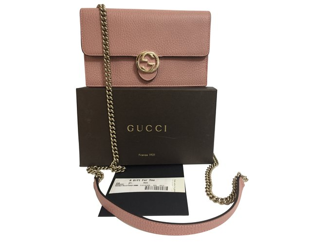 47eadf91a94 Gucci Wallet on chain Wallets Leather Pink ref.67002 - Joli Closet