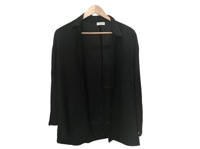 Tuniques Dries Van Noten Chemise Polyester Noir ref.67067