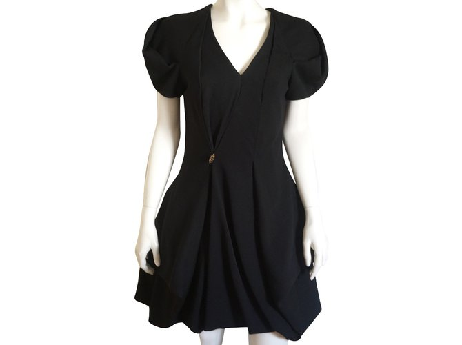 Robes Alexander Mcqueen Robe Laine Noir ref.67148 - Joli Closet 6adc240a2da