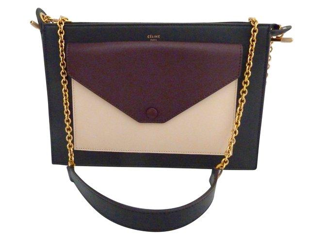Céline Handbags Handbags Leather Black ref.67165 - Joli Closet a58cb1ab22afe