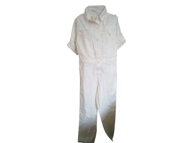 f397fe61dd0 Maje Pretty Jumpsuits Cotton Cream ref.67232 - Joli Closet