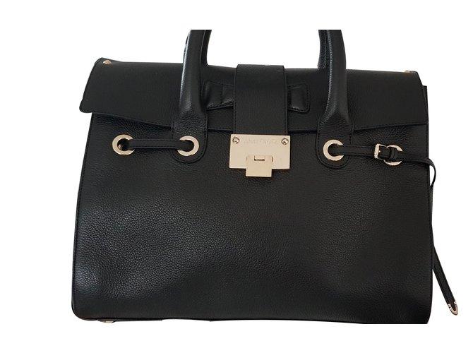 Jimmy Choo Rosalie Handbags Leather Metal Black Golden Ref 67311