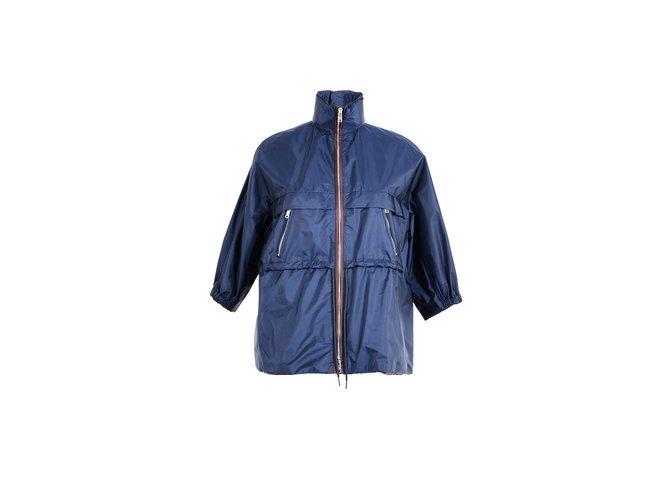 ref Polyamide Closet Prada 67328 Joli Bleu Vestes Vestes vz7waqzU