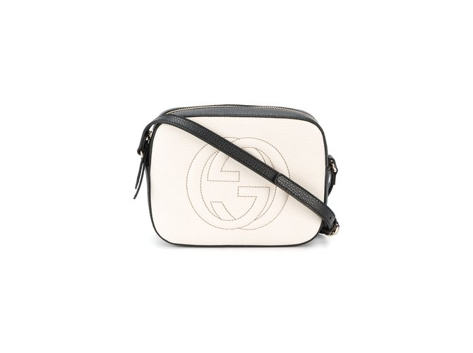 13acd9983d75 Gucci disco bag soho Handbags Leather Black,White ref.67543 - Joli ...