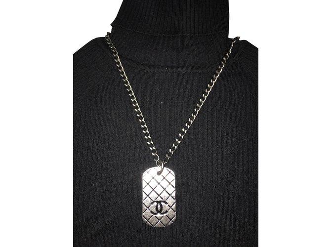 Chanel Necklaces Dark grey  ref.67632