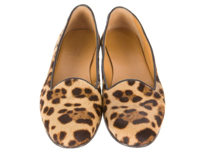 b03d619c6 Gucci Pony hair leopard print loafers Flats Pony hair Multiple colors  ref.67667