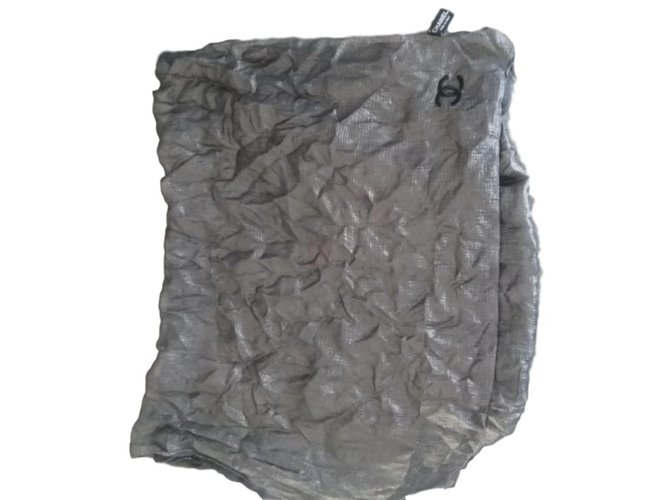 Chanel Scarves Dark grey Silk  ref.67772