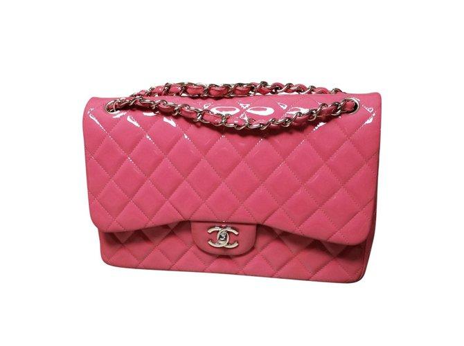 Sacs à main Chanel Sacs à main Cuir vernis Rose ref.67836
