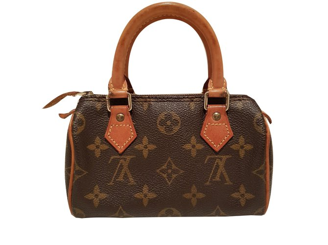 83e7f12d30f3a Louis Vuitton Mini speedy Handbags Leather Brown ref.67991 - Joli Closet