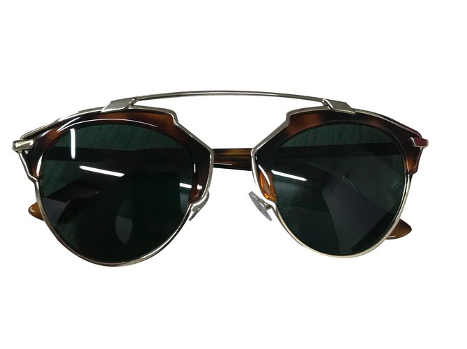 Dior So real Sunglasses Metal Brown ref.68042 - Joli Closet c87aee9ff1de