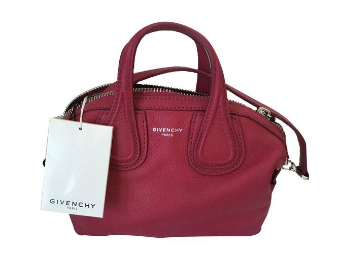 59847ec2cd Givenchy Nightingale Micro Handbags Leather Pink ref.68087 - Joli Closet