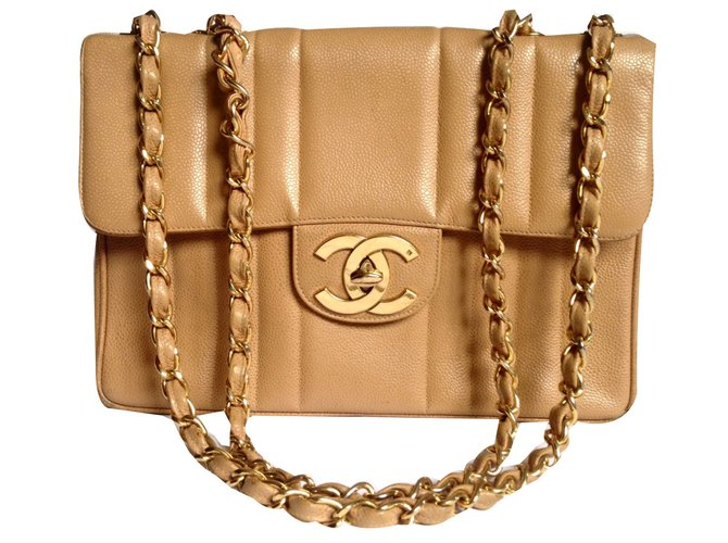 ed29897f1950 Chanel timeless Handbags Leather Caramel ref.68115 - Joli Closet