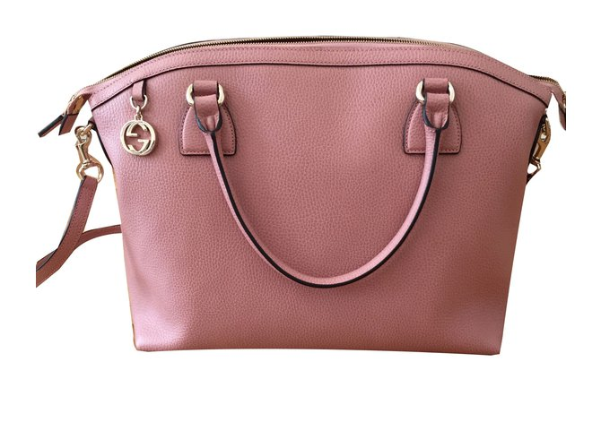 1cc9fc46bef9 Gucci Gucci light pink leather bag-Brand New Totes Leather Pink ref.68145